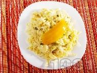 Салата айсбер с манго, лимонов сок и готварска сметана